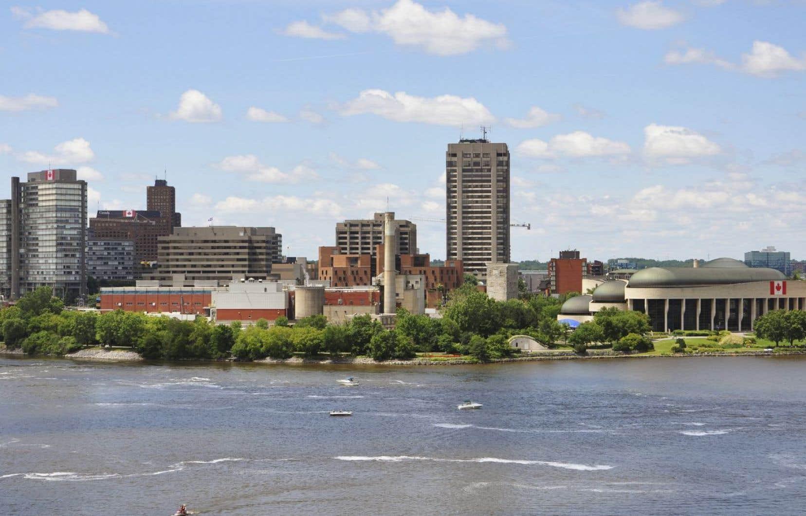 Vue de la ville de Gatineau depuis Ottawa