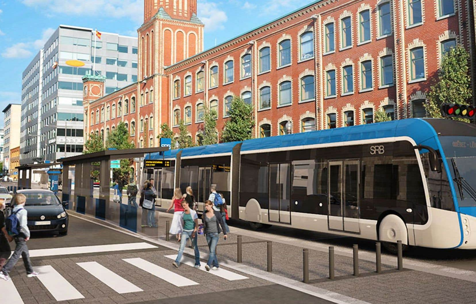Le projet abandonné de Service rapide par bus à Québec
