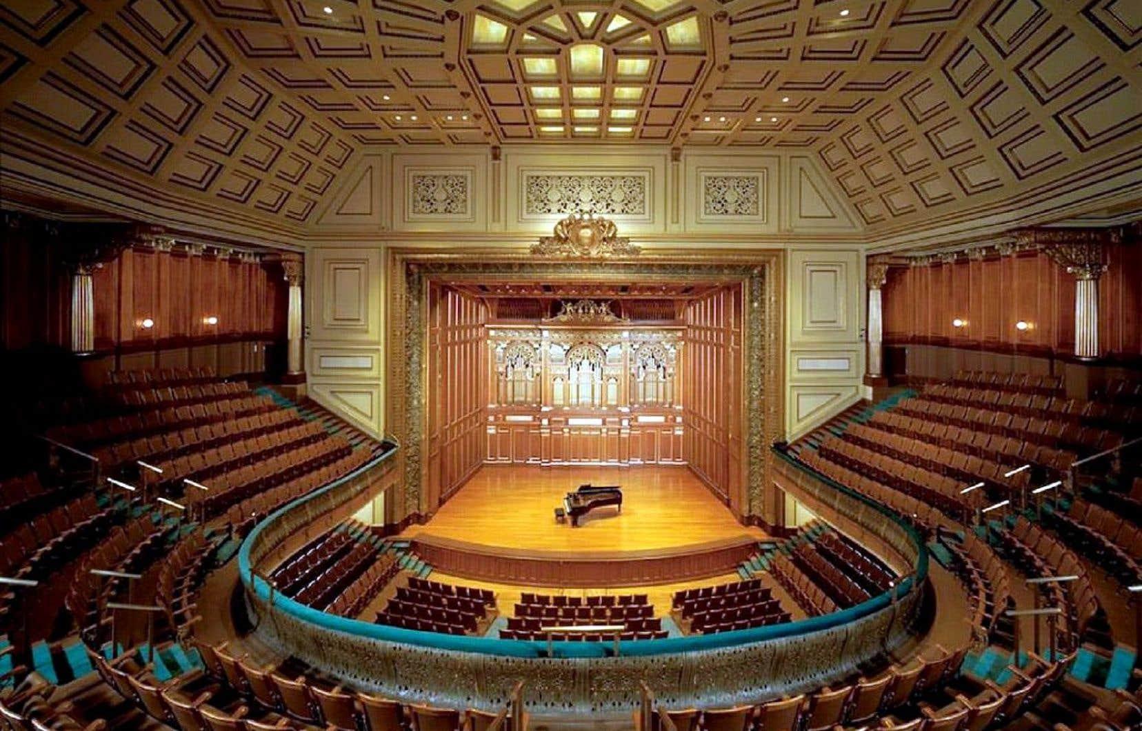 Vue sur le lieu emblématique entre tous du jazz à Boston: le New England Conservatory