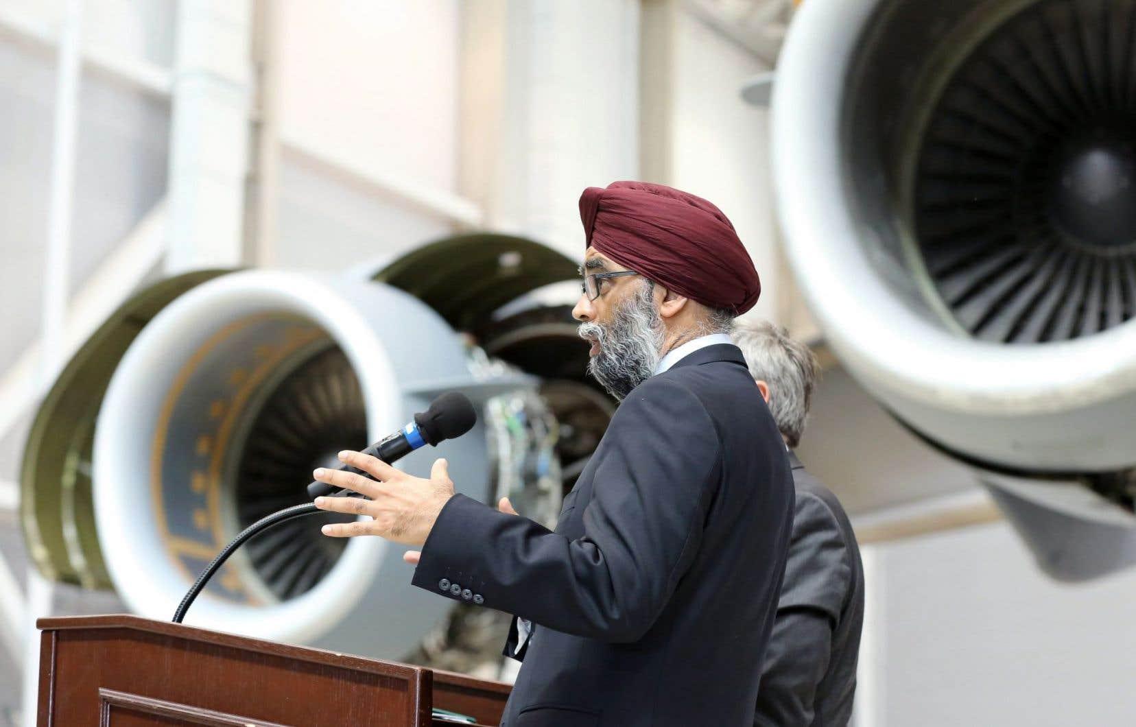 Le ministre de la Défense, Harjit Sajjan