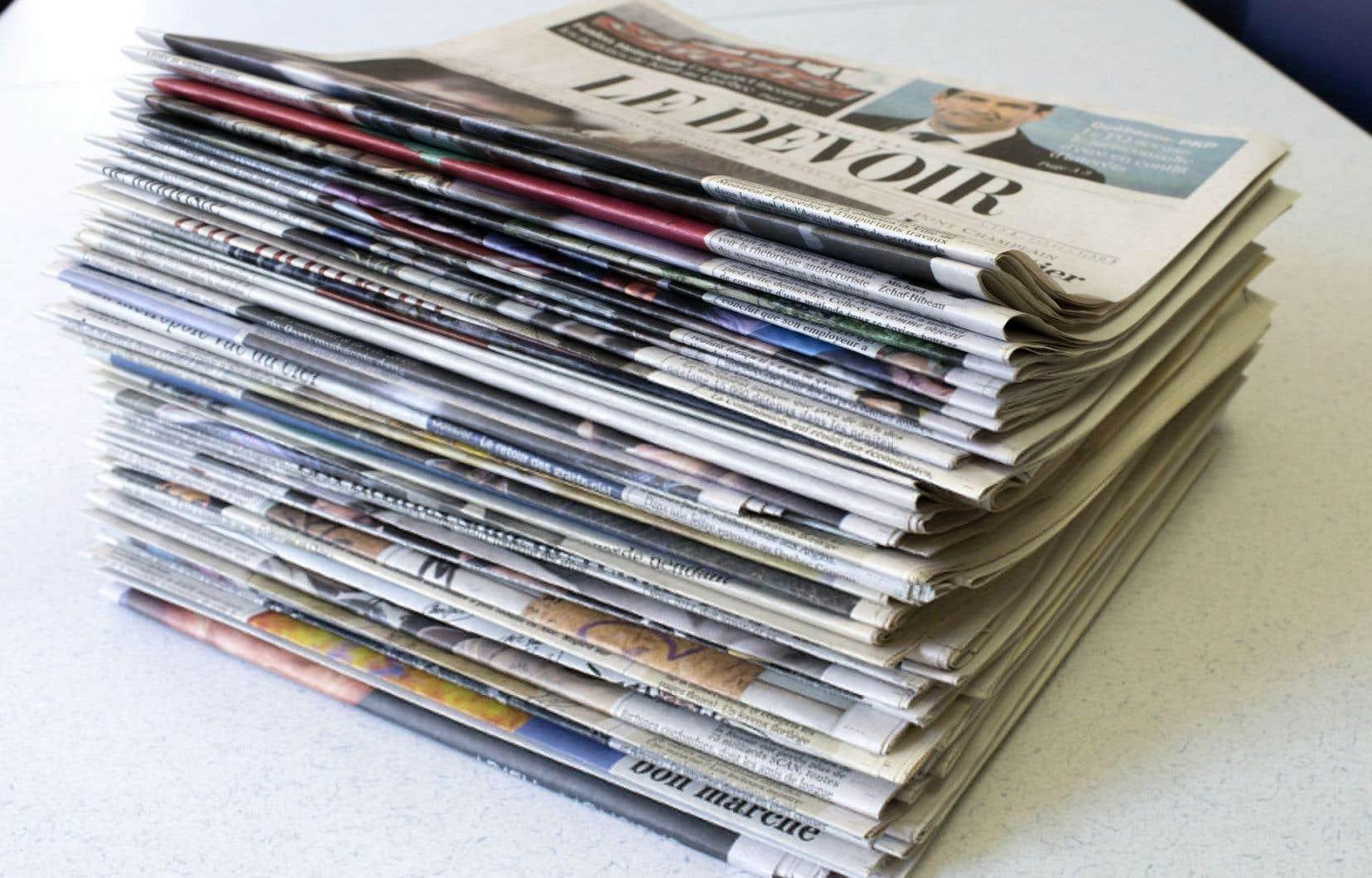 83% des Canadiens font confiance en totalité ou en partie aux journaux comme source d'information.