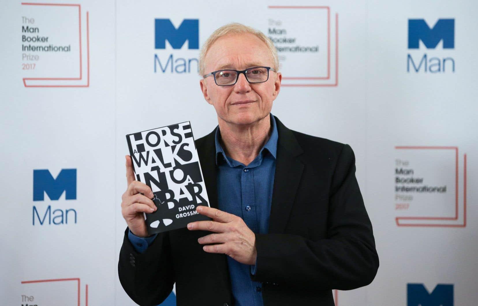 David Grossman a décroché mercredi à Londres le Man Booker International Prize pour «Un cheval entre dans un bar».