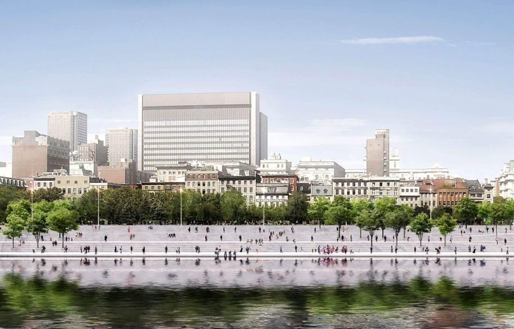 Parmi les nombreux objectifs d'aménagement présentés lundi dernier à Montréal figure la volonté de se rapprocher du fleuve Saint-Laurent.