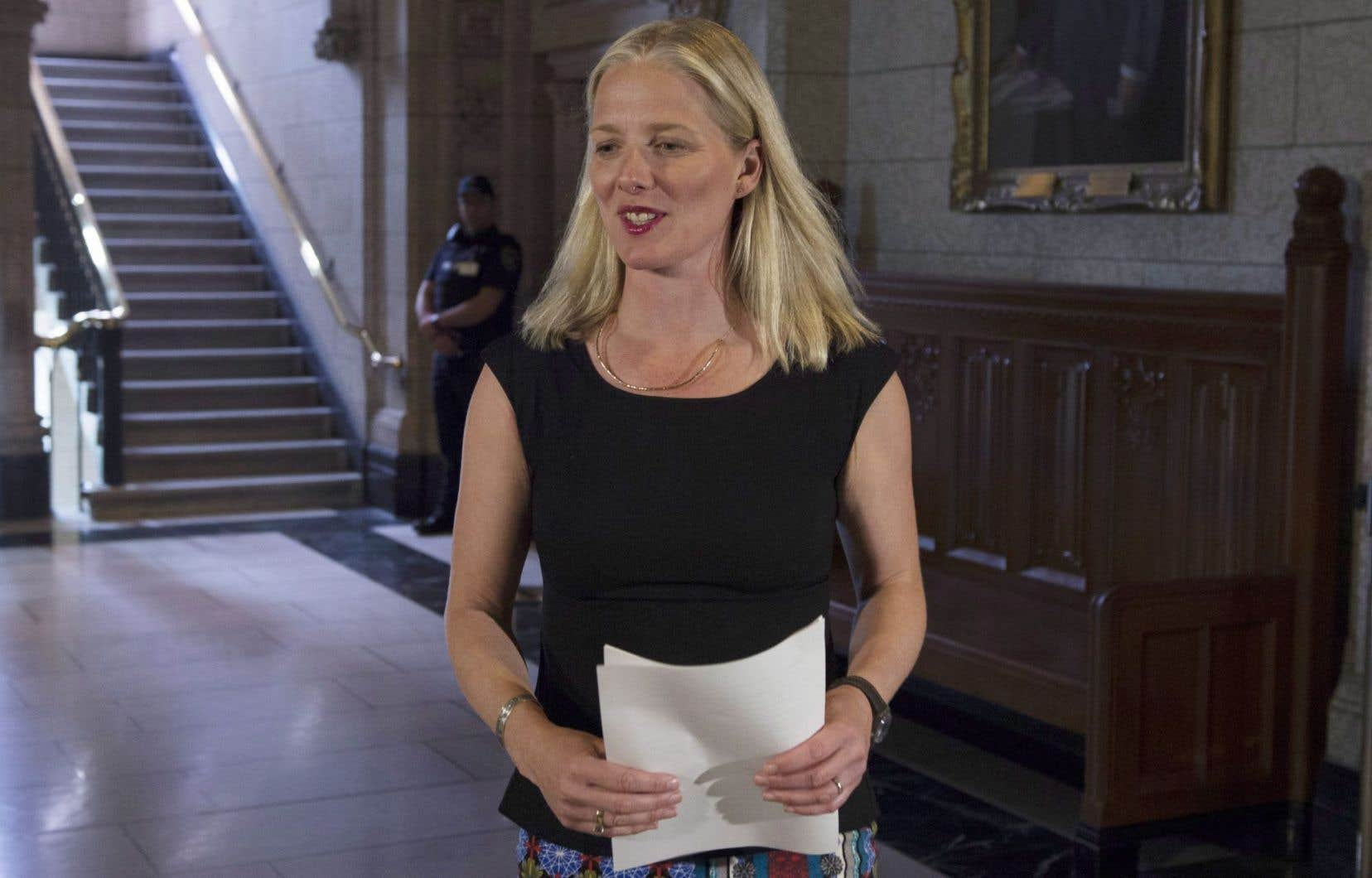 La ministre de l'Environnement et du Changement climatique, Catherine McKenna