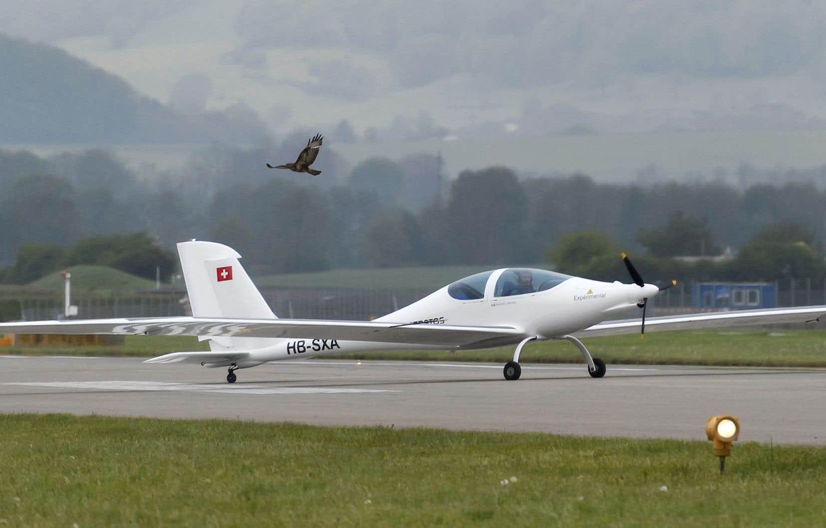 L'avion solaire SolarStratos en Suisse, au début mai