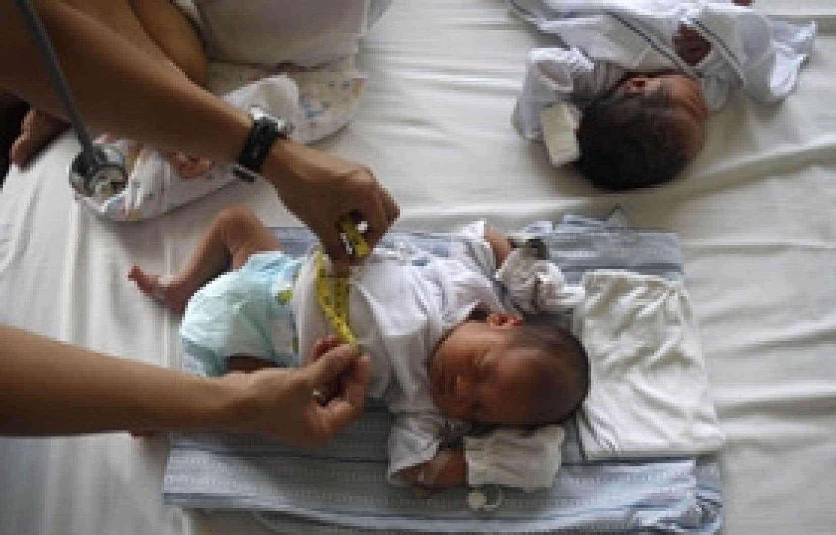 Au Canada, le quart des naissances survenues à l'hôpital en 2004-05 ont nécessité une césarienne.