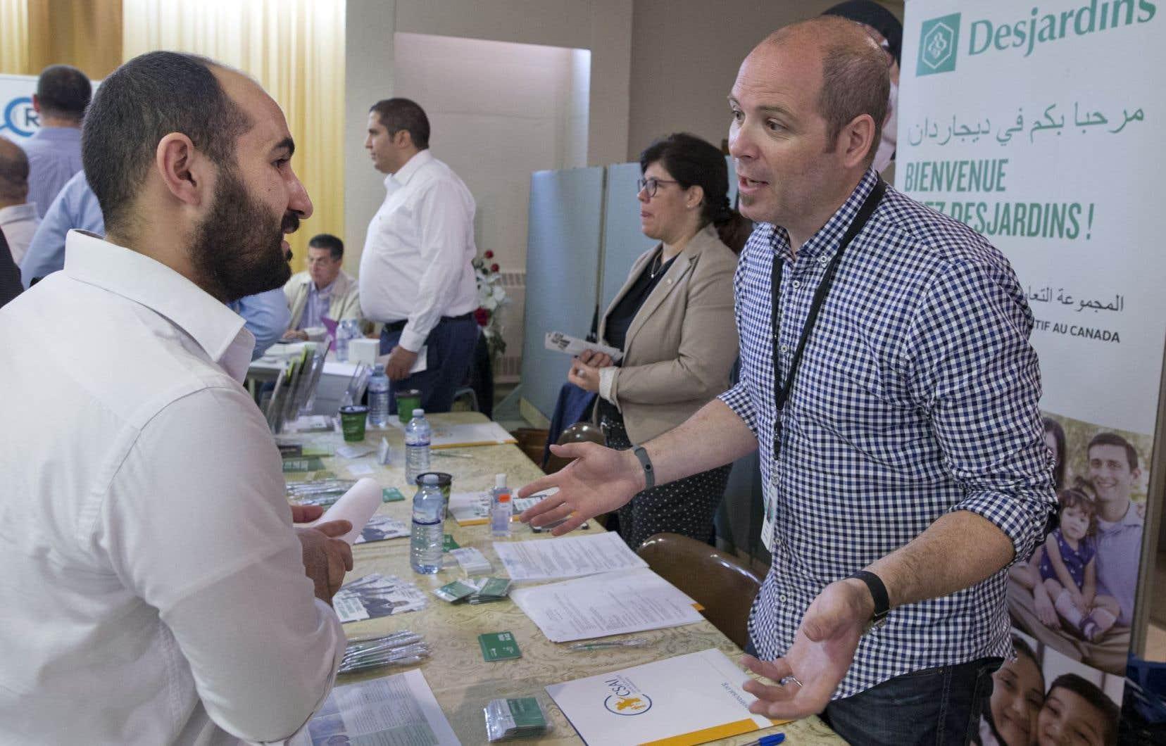 Environ 300 réfugiés syriens ont participé au salon de l'emploi qui leur était spécifiquement destiné.