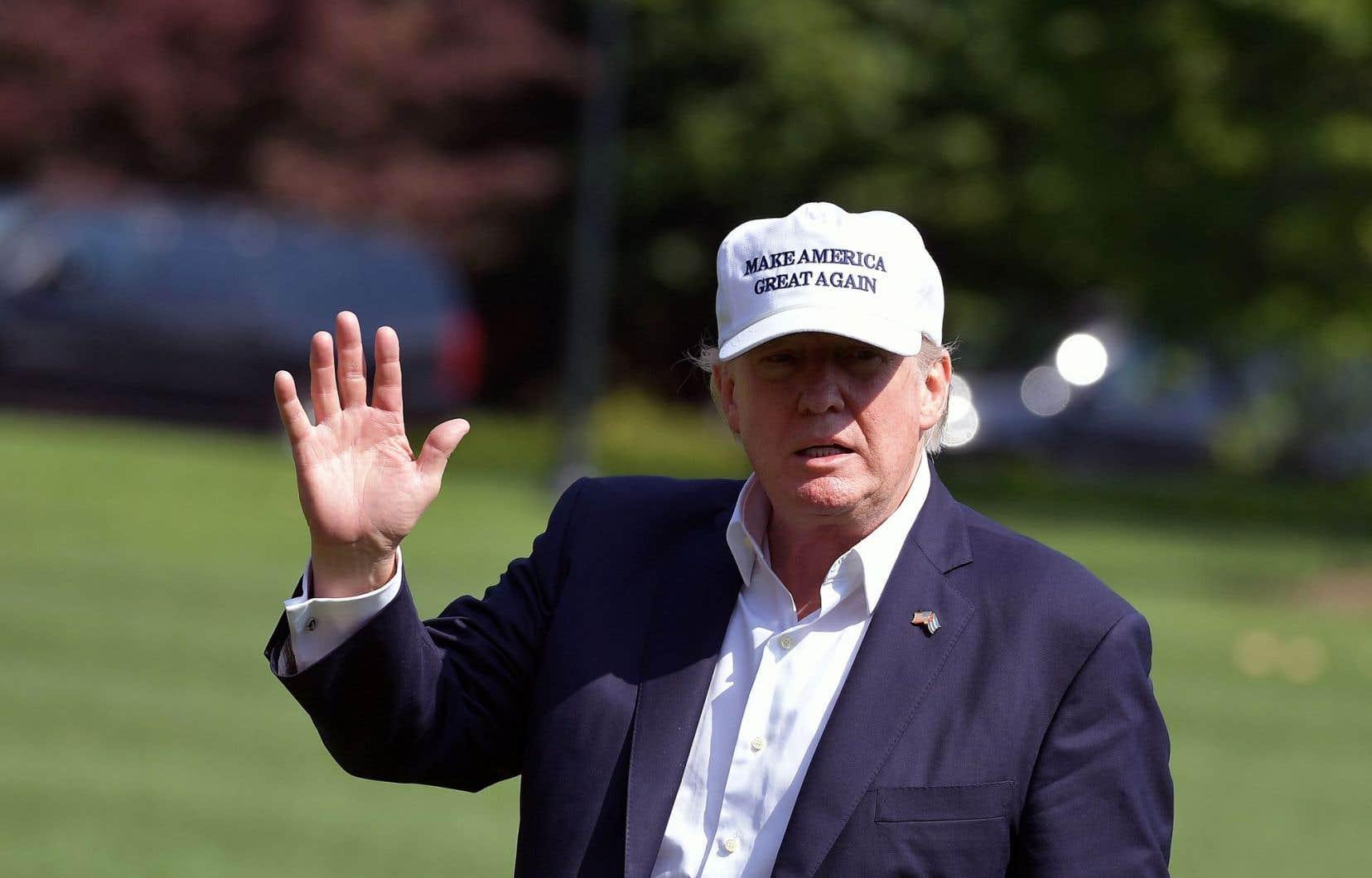 Trump à son retour à la Maison-Blanche, dimanche