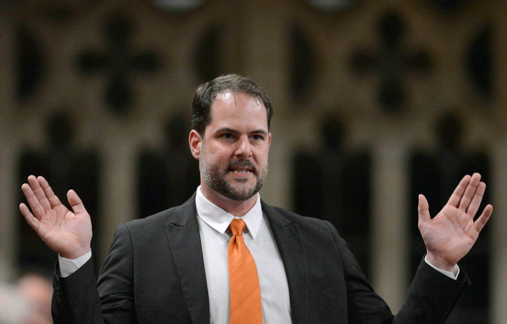 Alexandre Boulerice, porte-parole parlementaire du NPD