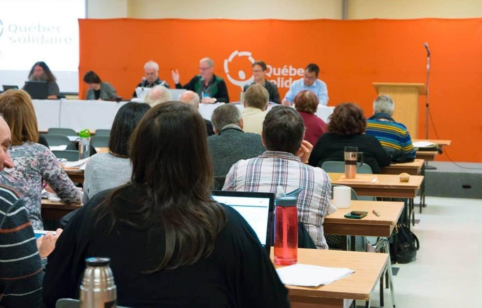 Une dizaine de membres du parti ont délaissé les instances de Québec solidaire.