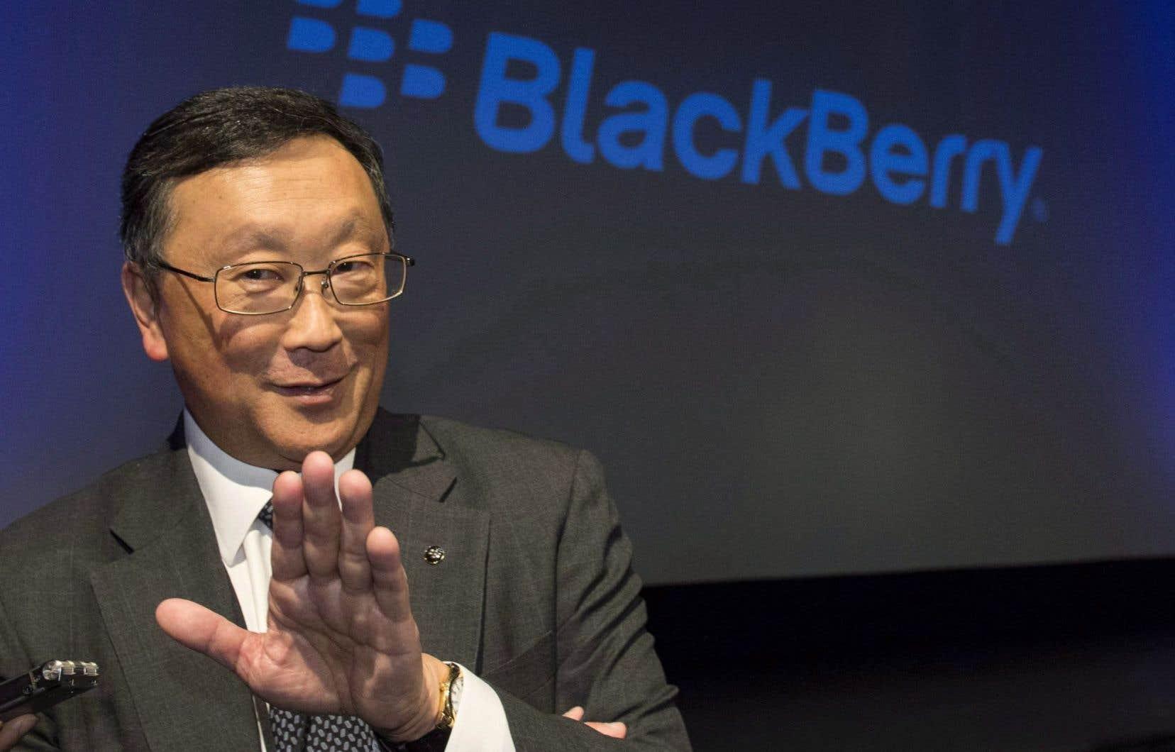 Le chef de la direction de BlackBerry, John Chen