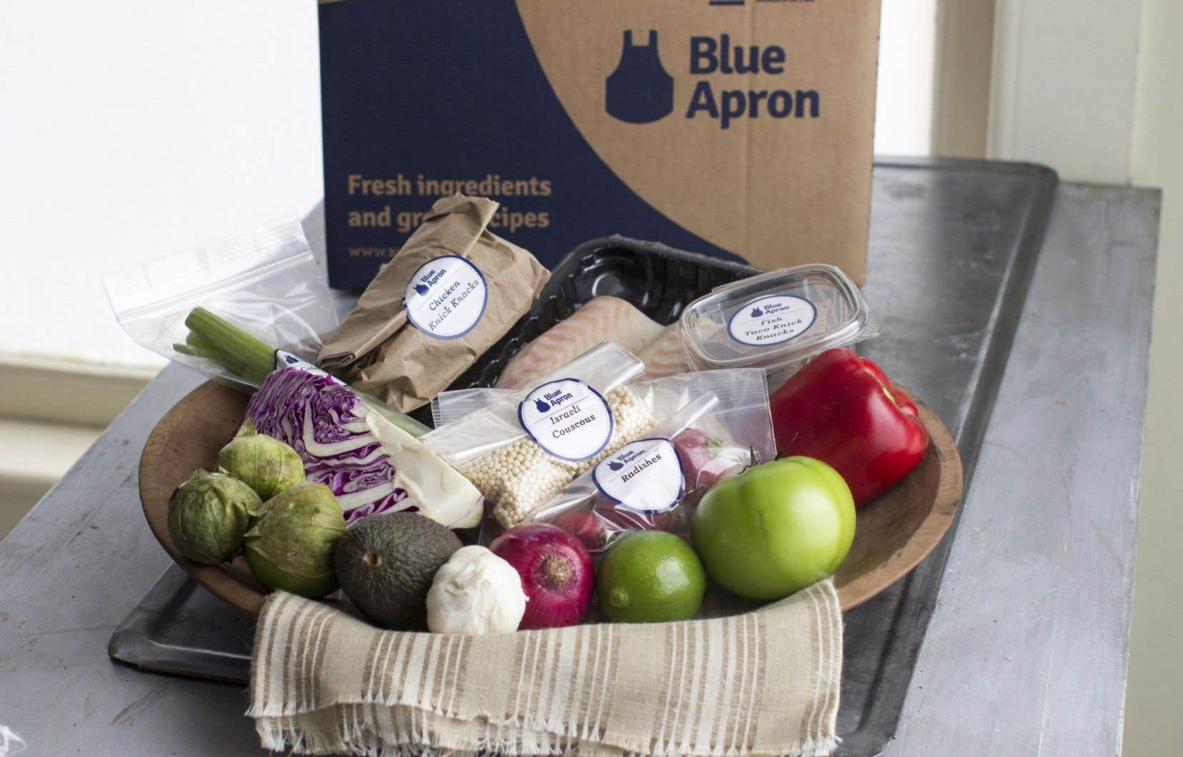 En faisant son entrée en Bourse ce jeudi, Blue Apron souhaite frapper un grand coup dans un marché très concurrentiel, où plusieurs compagnies jouent du coude.