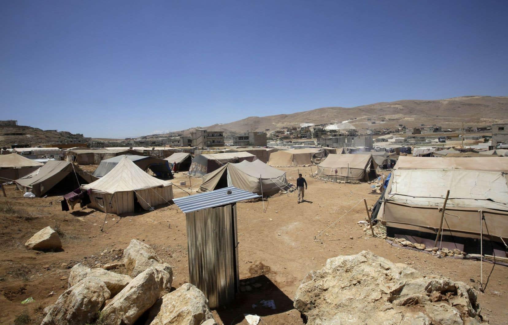 Un camp de réfugiés syriens non loin de la villed'Ersal, au Liban