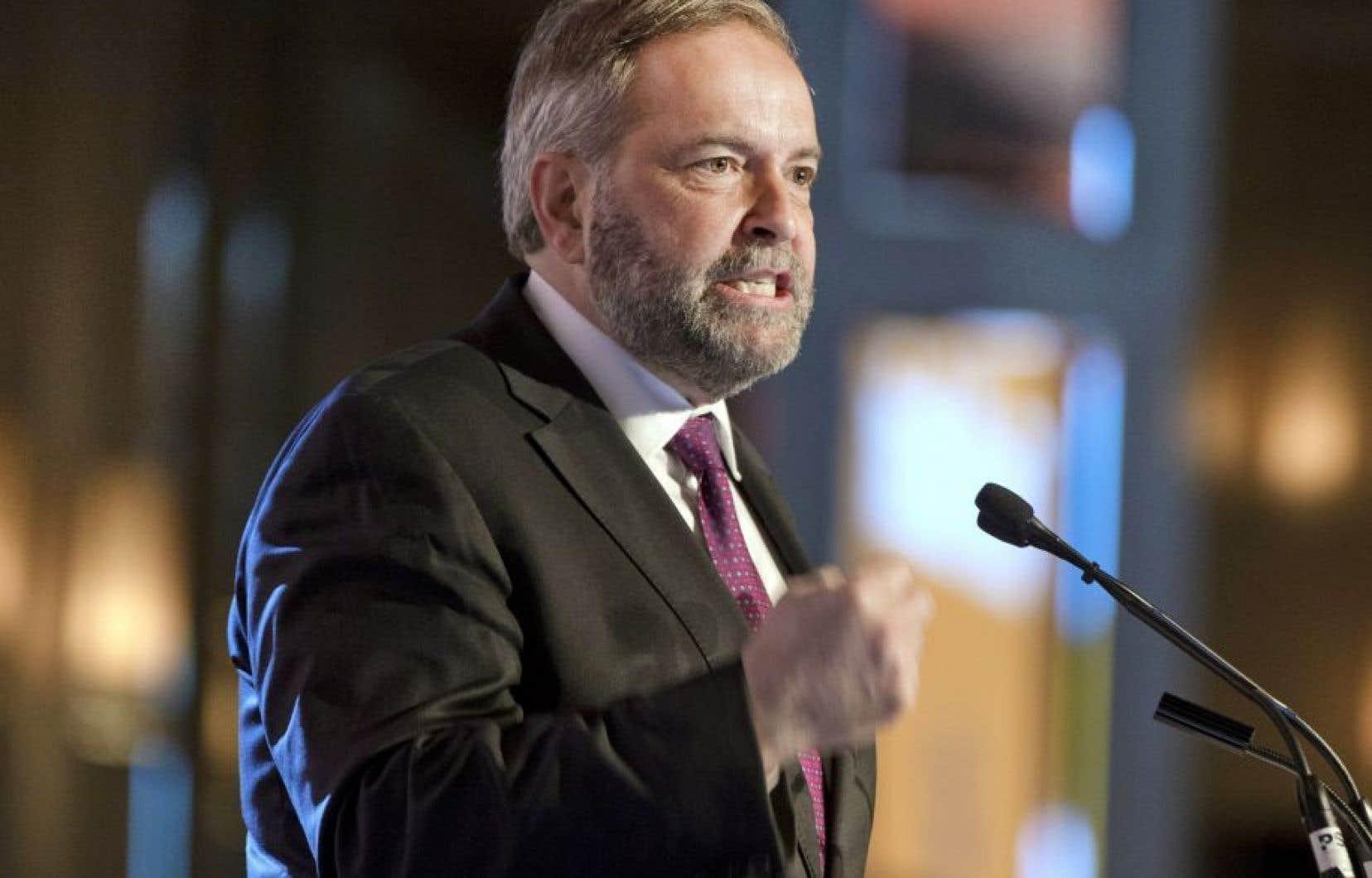 L'ancien chef du Nouveau parti démocratique Thomas Mulcair