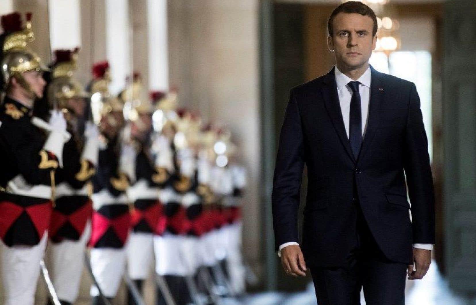 Le président de la France, Emmanuel Macron
