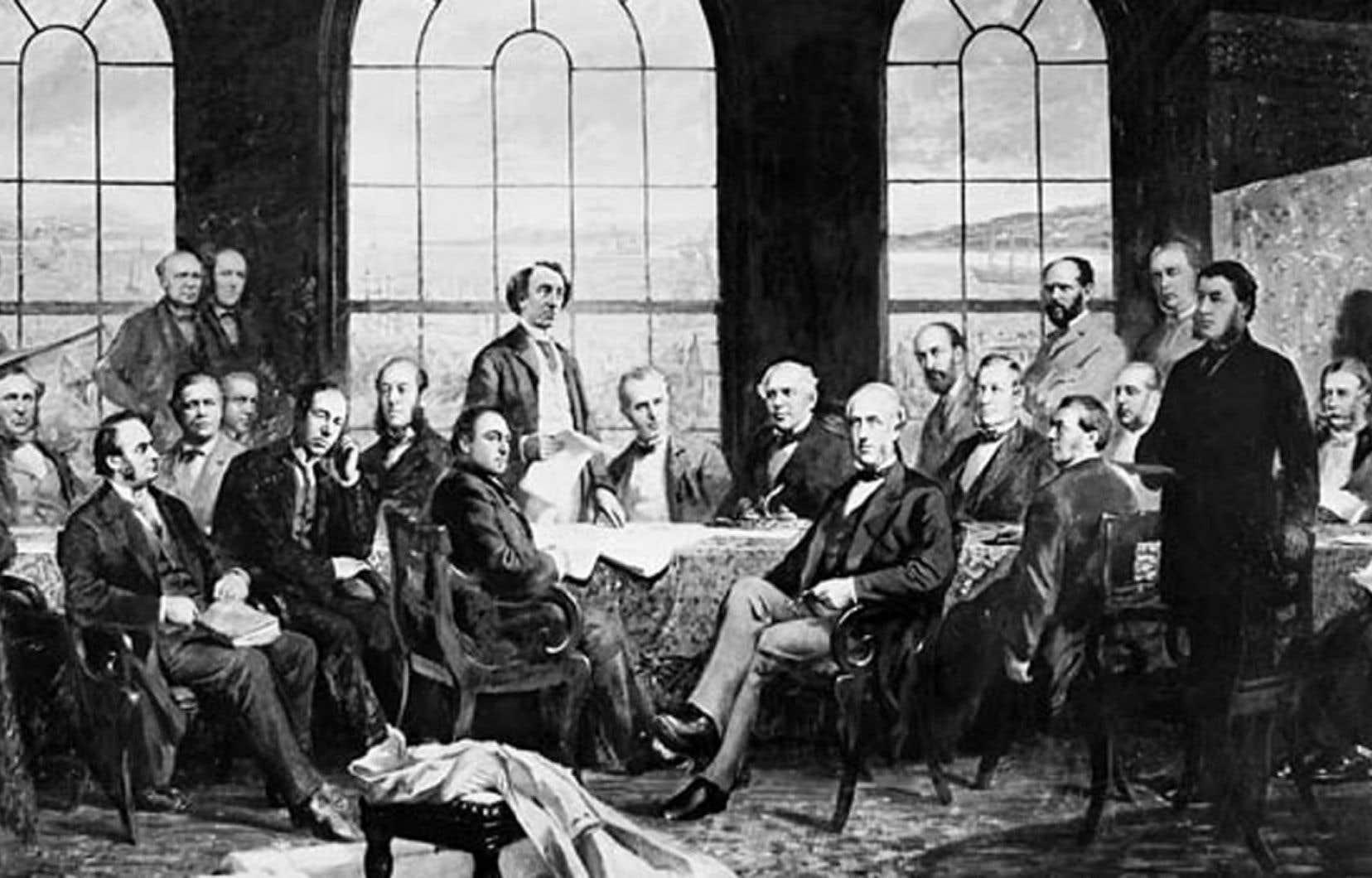 La conférence constitutionnelle de 1864 à Québec fût tenue à huis clos. Les journalistes eux-mêmes n'y avaient pas accès.