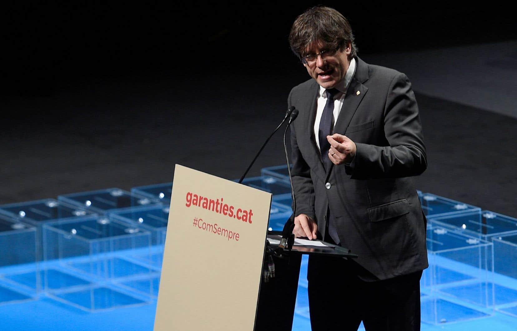 Le président du gouvernement régional catalan, Carles Puigdemont