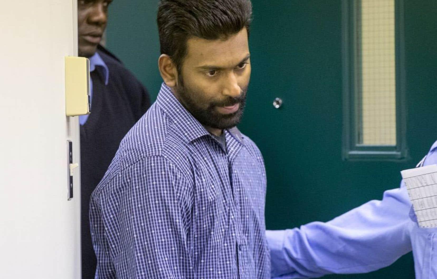 Sivaloganathan Thanabalasingham lors de son passage en cour, le 13 avril dernier