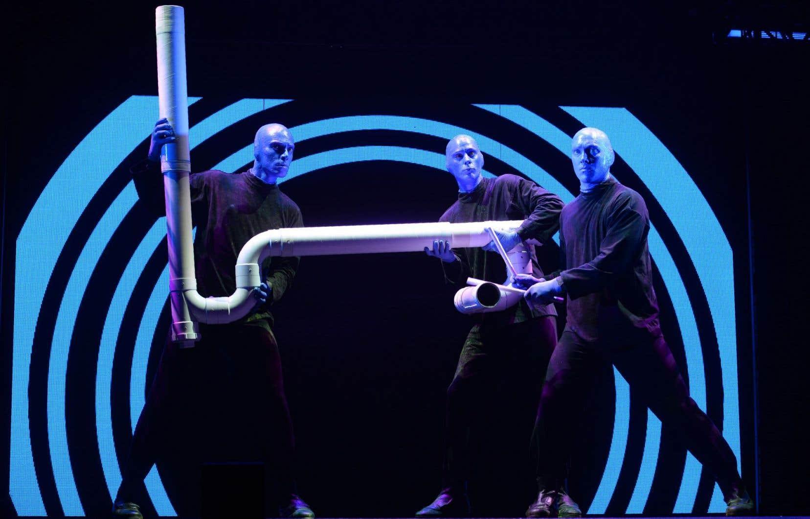 Un spectacle du Blue Man Group à Singapour, l'an dernier