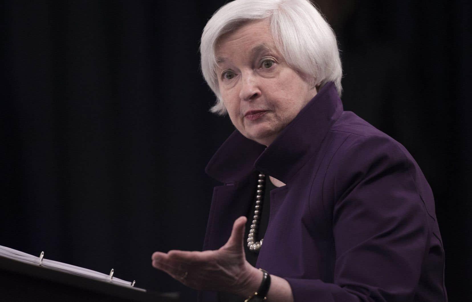 Janet Yellen, la présidente de la Réserve fédérale américaine
