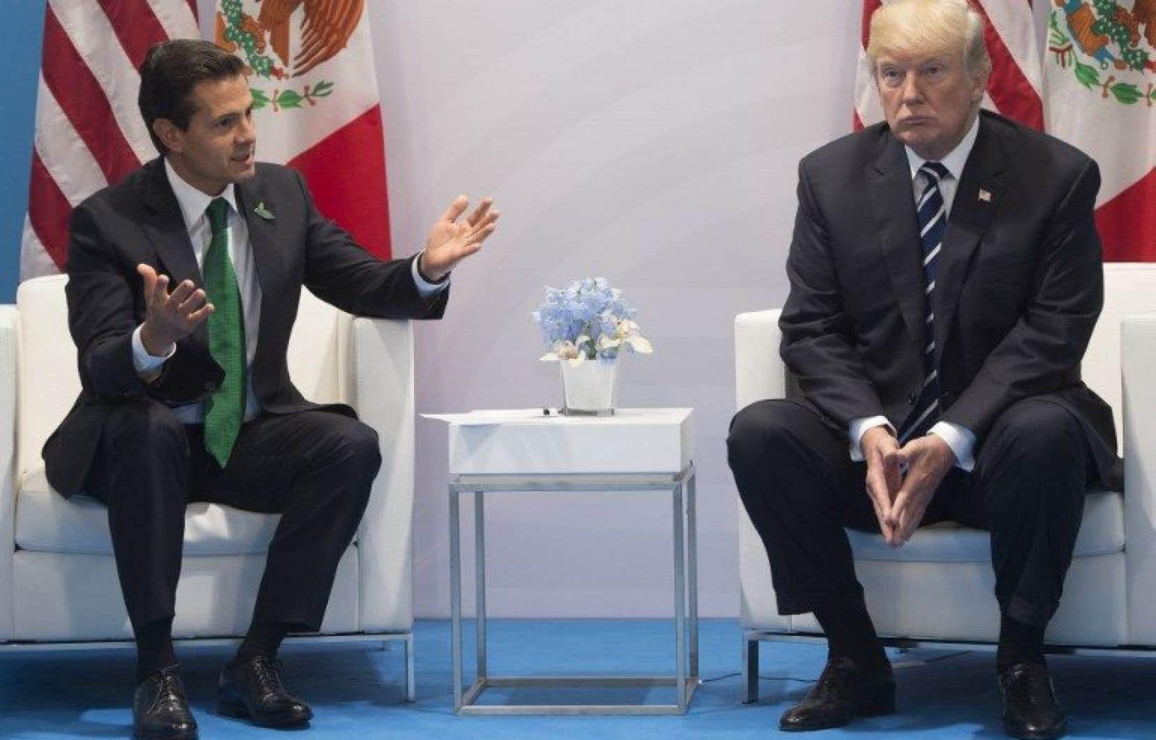 Enrique Peña Nieto a rencontré Donald Trump pendant le G20.