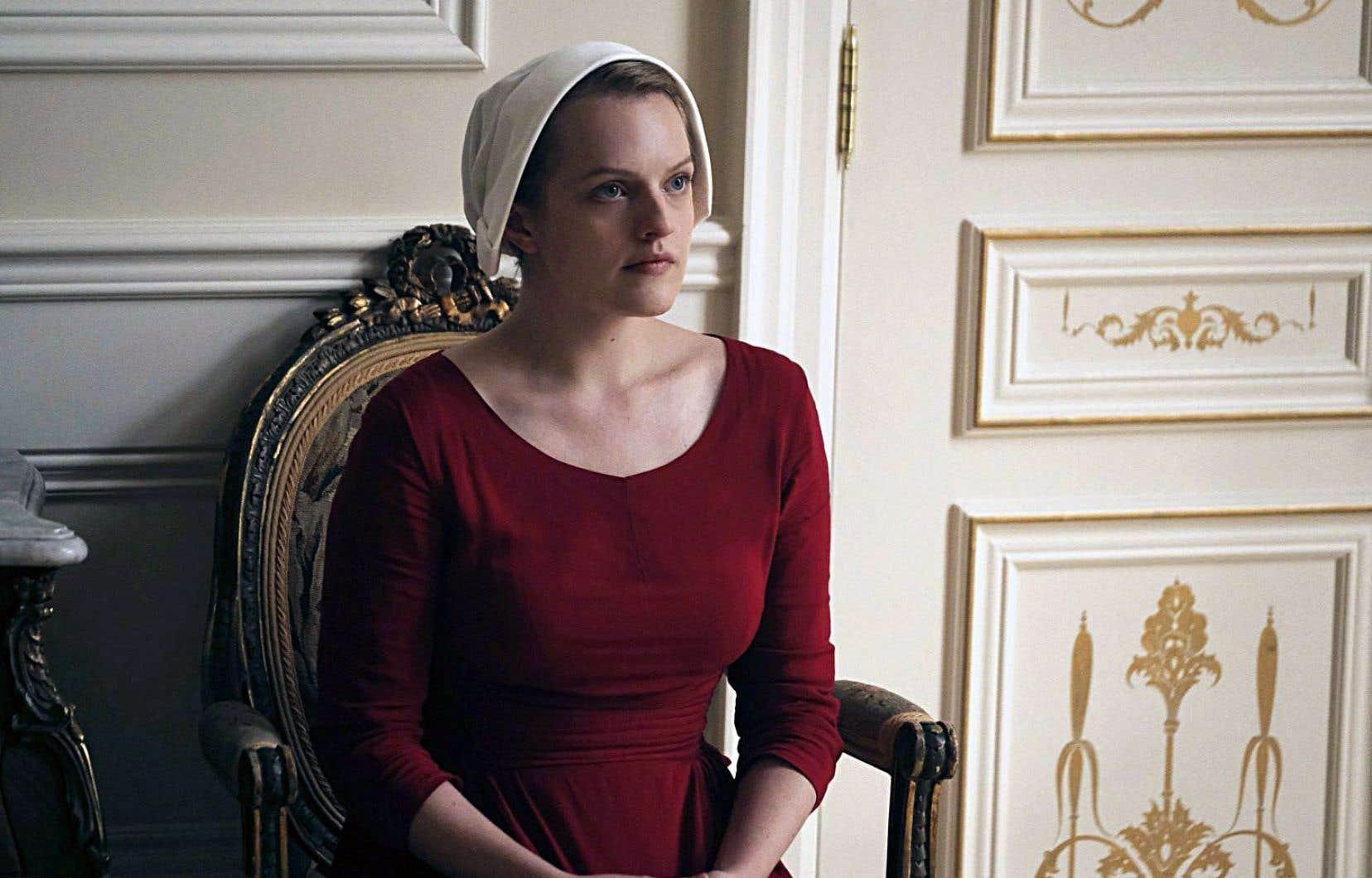 Elisabeth Moss dans le rôle de Offred dans la série «The Handmaid's Tale»