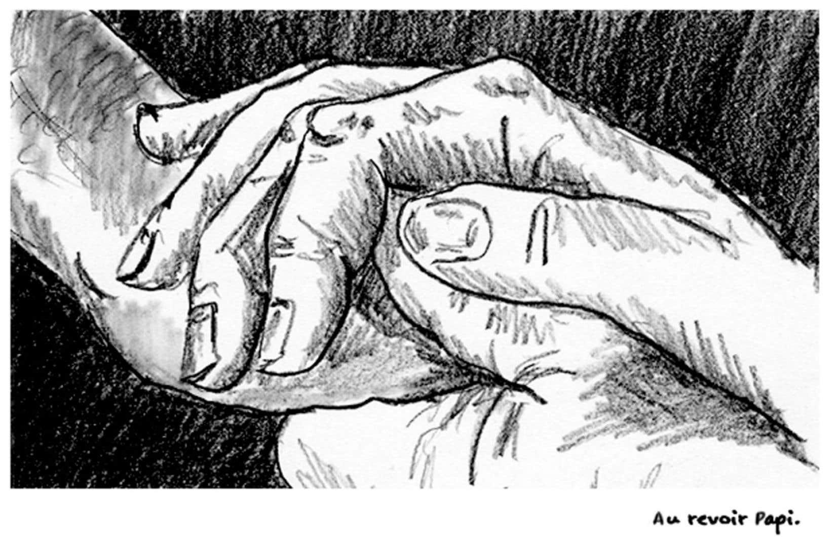 Emanuelle Dufour, qui étudie l'éducation par les arts à Concordia, a créé une bande dessinée sur la vie de son grand-père. Elle y raconte notamment son recours à l'aide médicale à mourir.