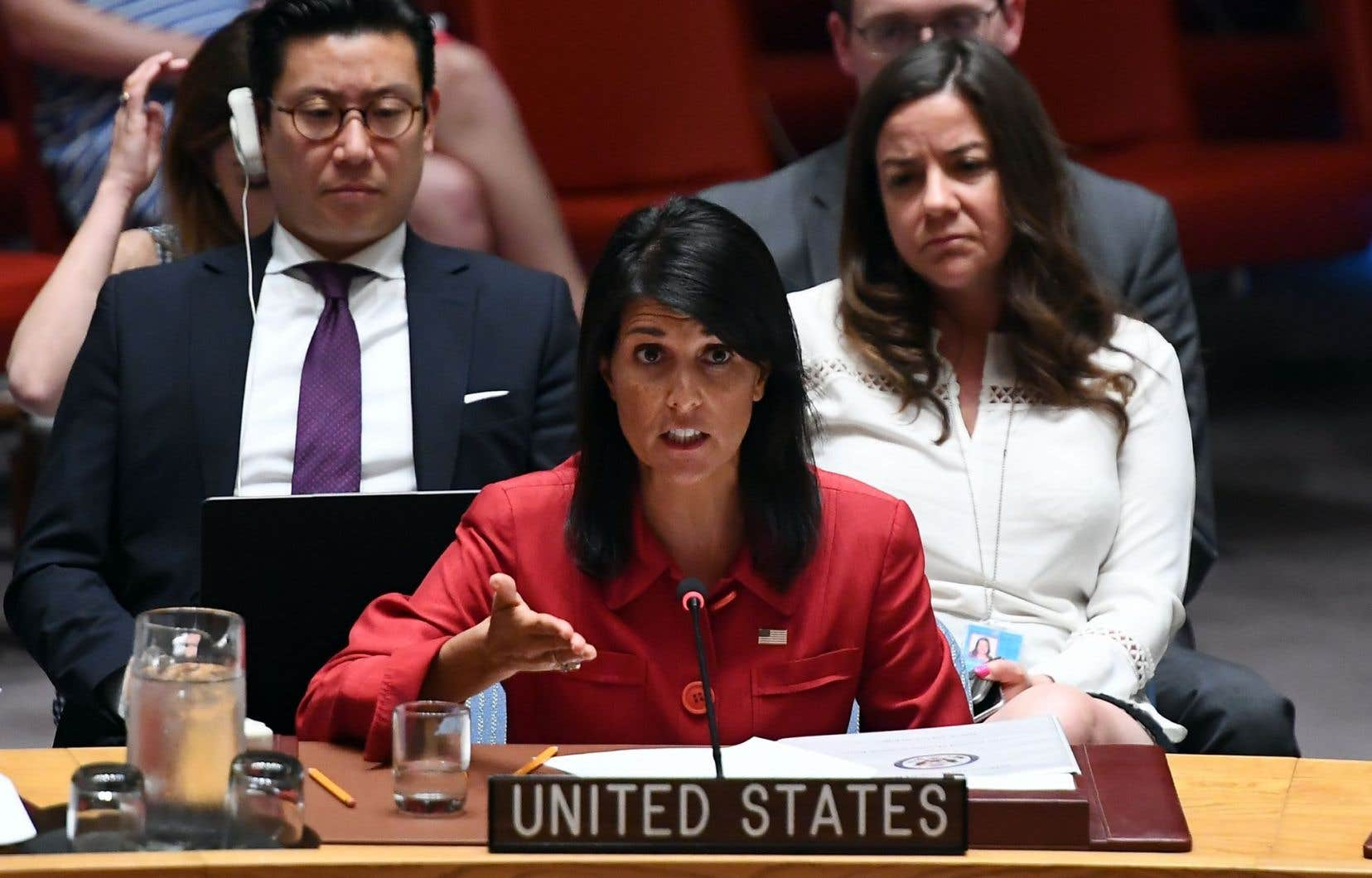 L'ambassadrice américaine aux Nations unies, Nikki Haley