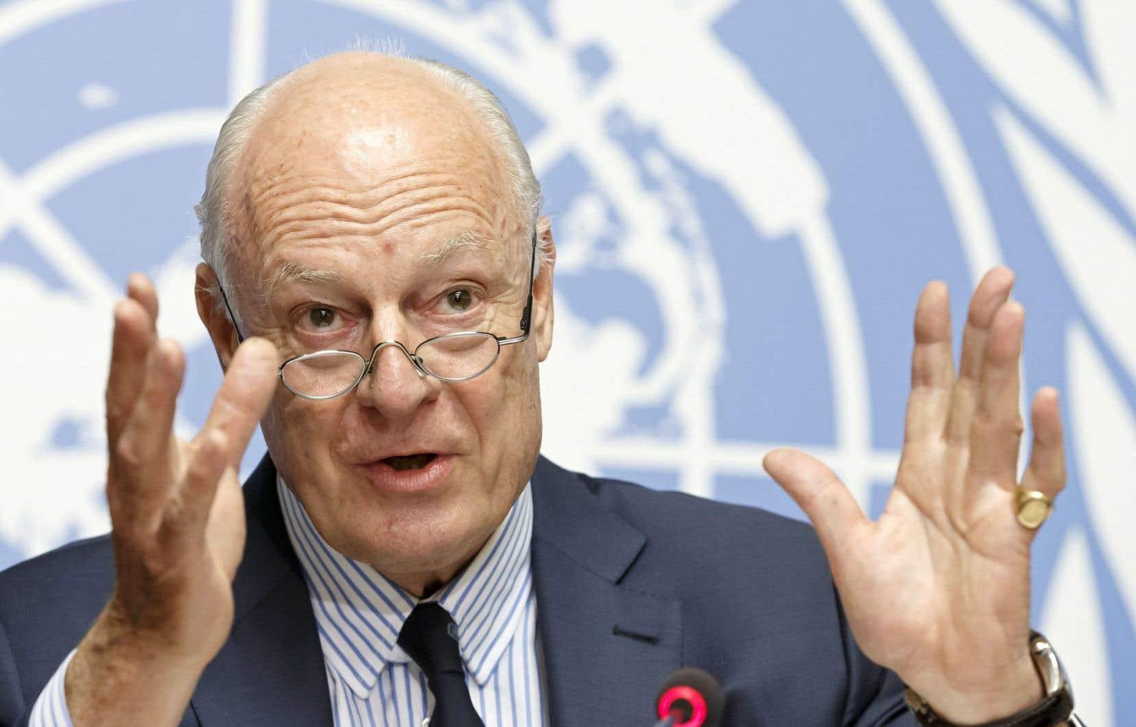 L'envoyé spécial de l'ONU chargé du dossier syrien, Staffan de Mistura