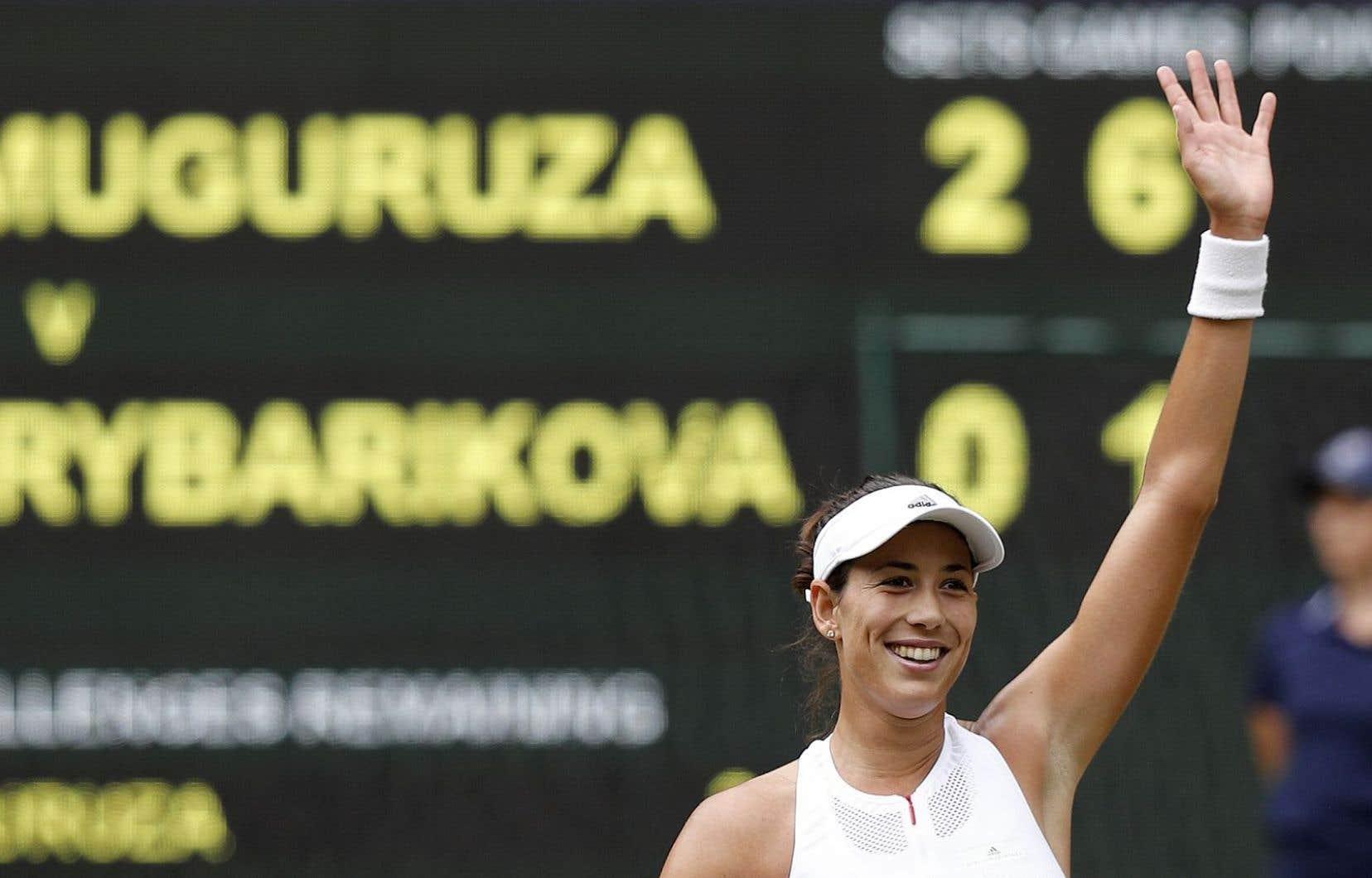 Muguruza a parfaitement négocié sa première apparition dans un dernier carré de Grand Chelem depuis son titre à Roland-Garros en 2016.