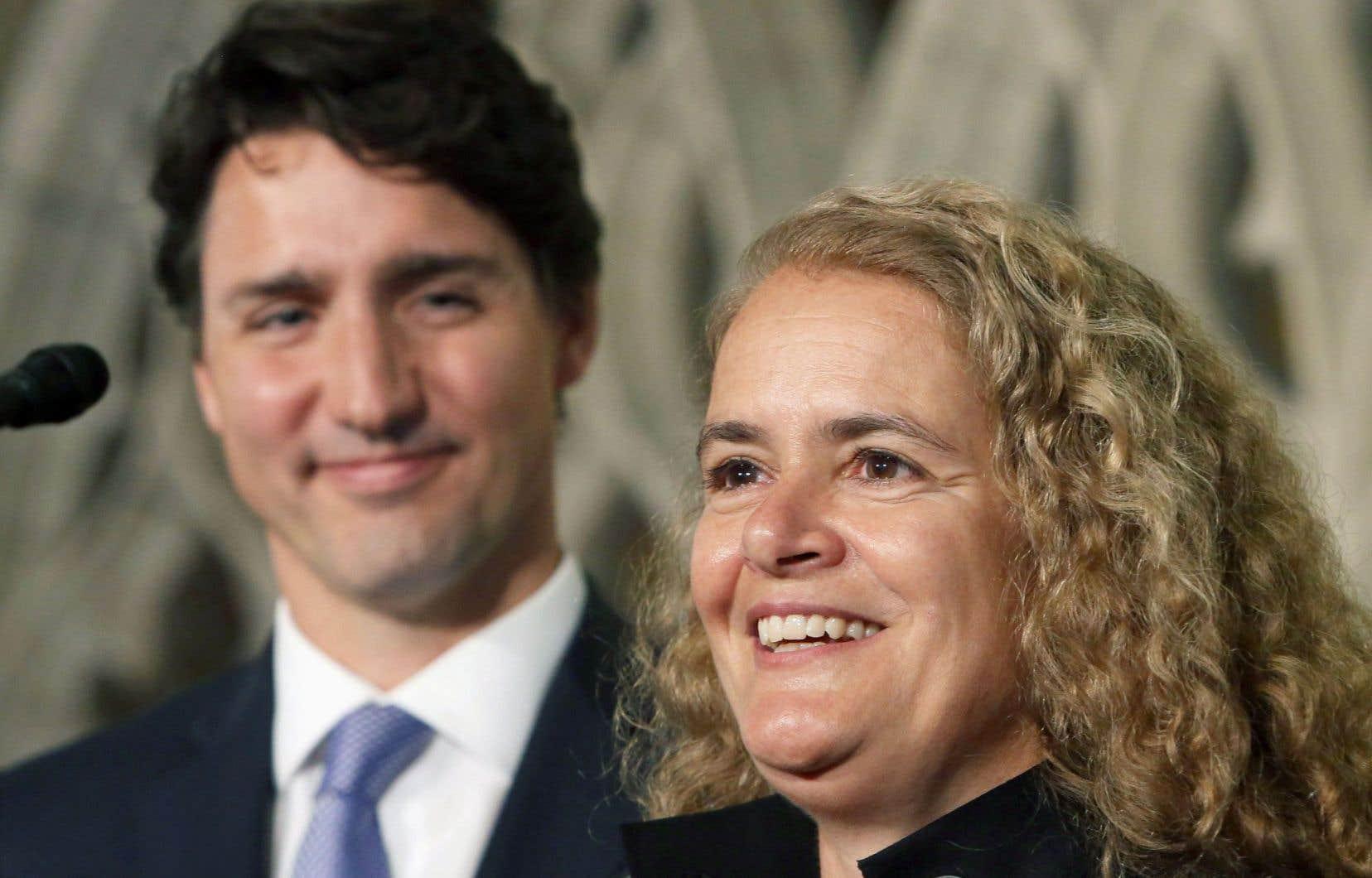 Le choix de Julie Payette comme prochaine gouverneure générale s'est imposé au premier ministre Justin Trudeau, qui a mis en relief les valeurs, l'approche et les priorités de l'ancienne astronaute.