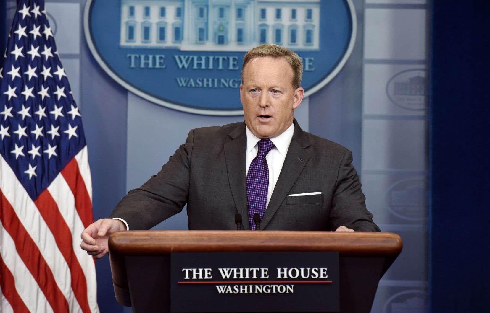 Le porte-parole démissionnaire de la Maison-Blanche,Sean Spicer