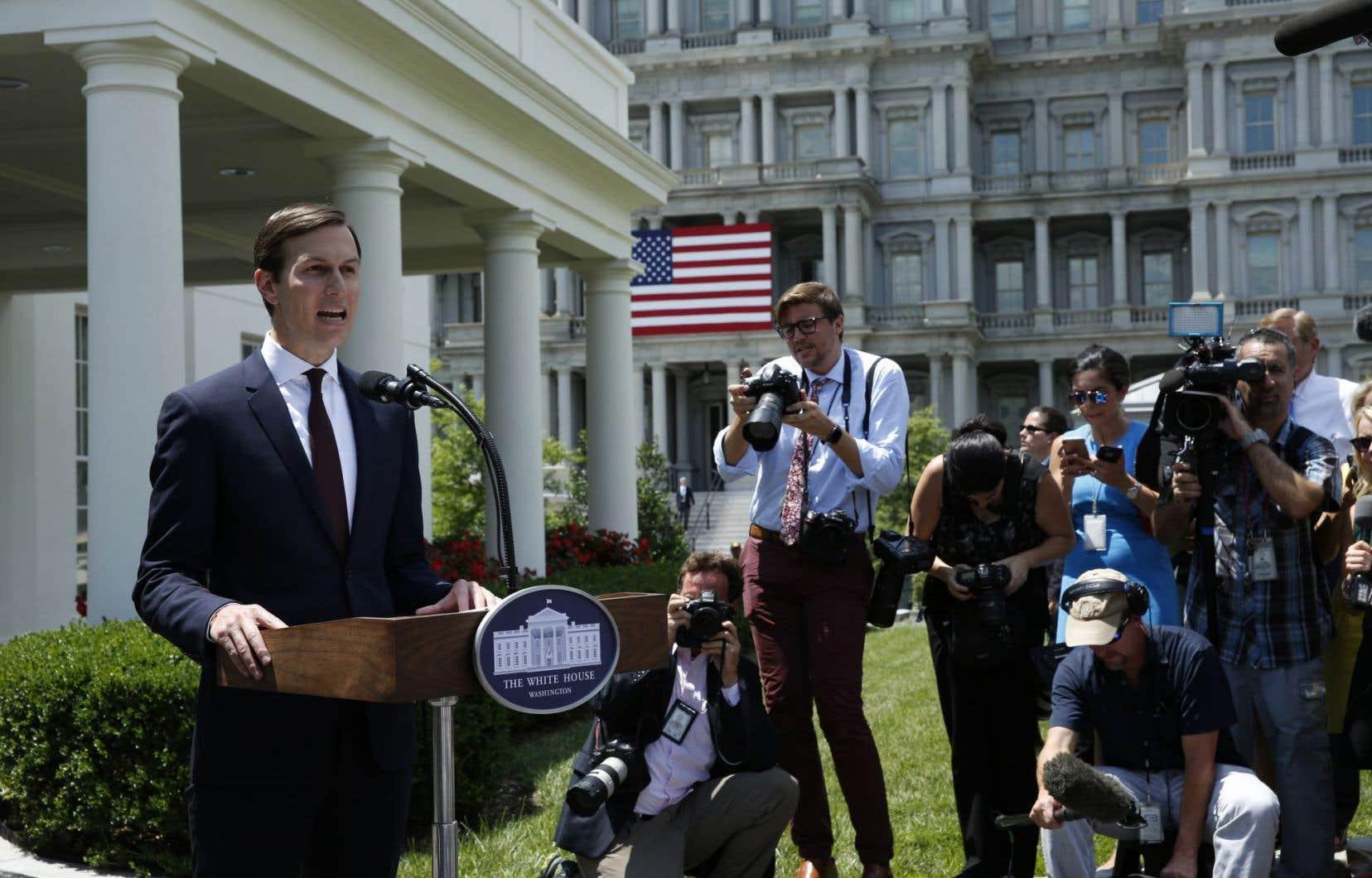 «Tous mes actes ont été appropriés», a déclaré Jared Kushner à son retour à la Maison-Blanche, lors d'une très rare déclaration publique.