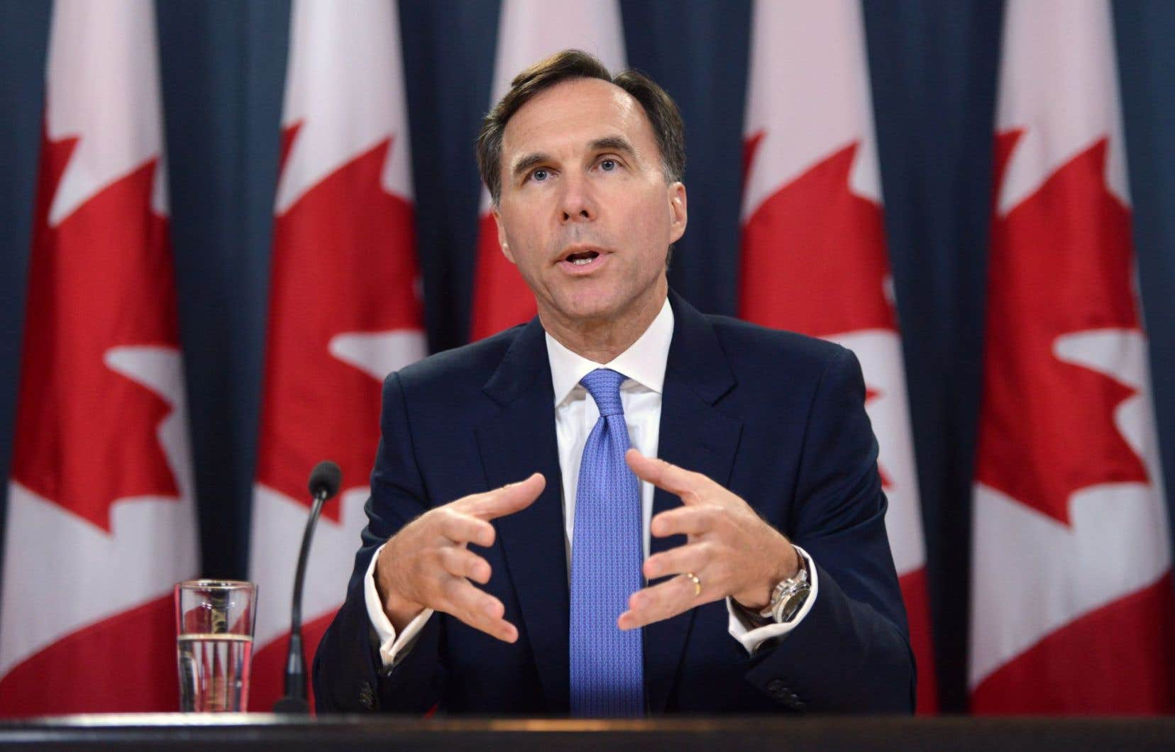 Le ministre fédéral des Finances, Bill Morneau