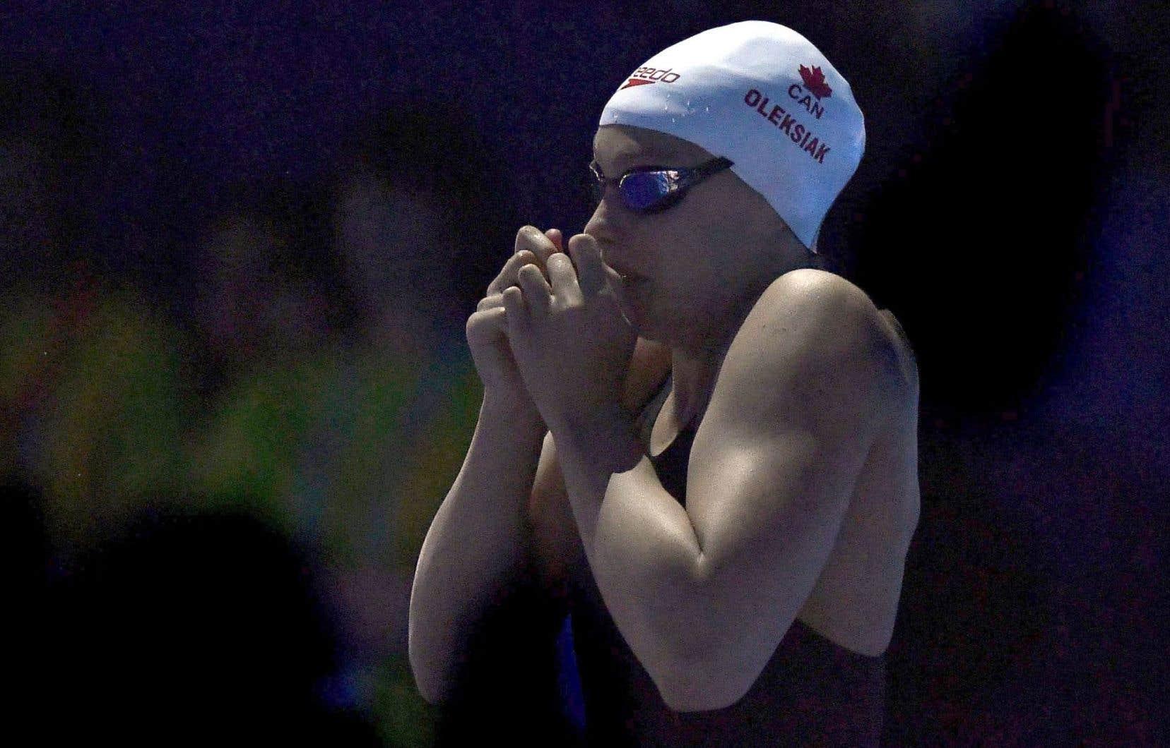 Penny Oleksiak a terminé au sixième rang de l'épreuve aux Championnats du monde de natation de Budapest, vendredi, avec un temps de 52,94 secondes.