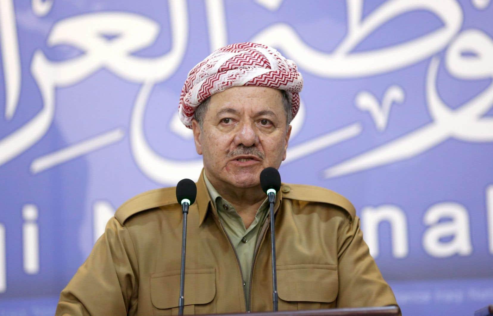 Le président de la région kurde autonome d'Irak,Massoud Barzani
