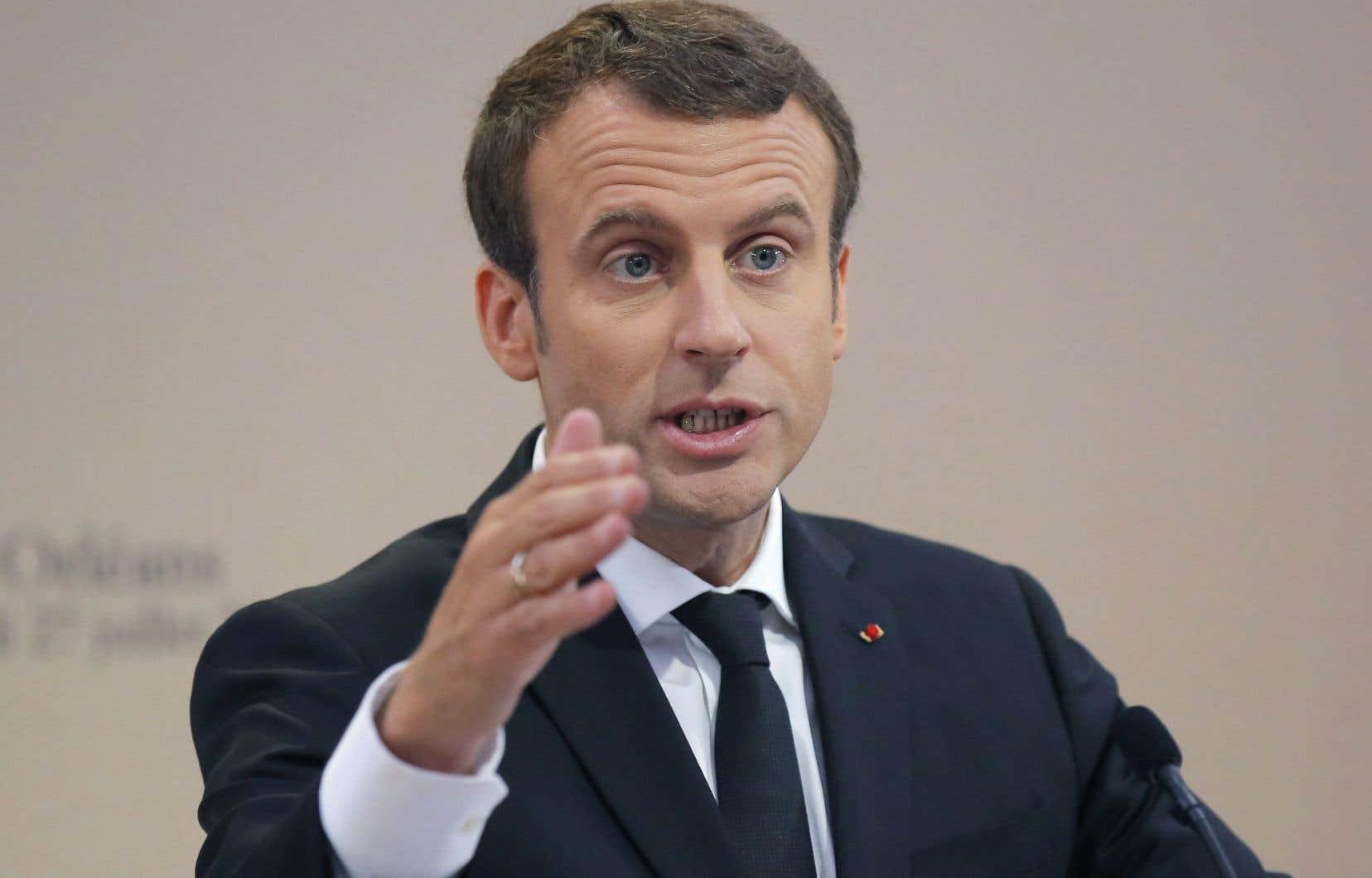 Le président de la Ve République, Emmanuel Macron