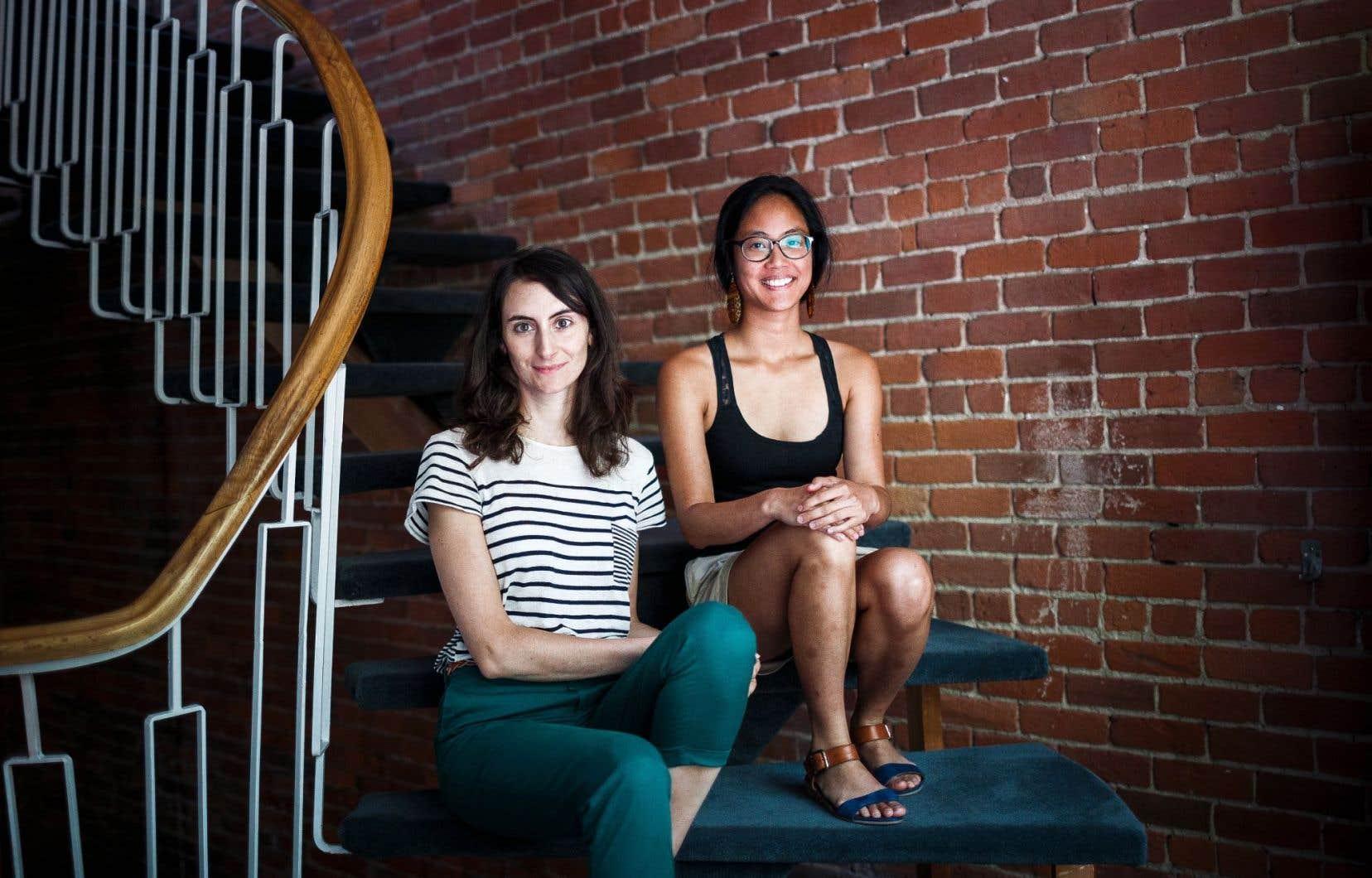 Nathalie Casemajor et Ha-Loan Phan font partie des 10% de contributeurs de Wikipédia qui sont des femmes contribuant régulièrement à l'encyclopédie en ligne.