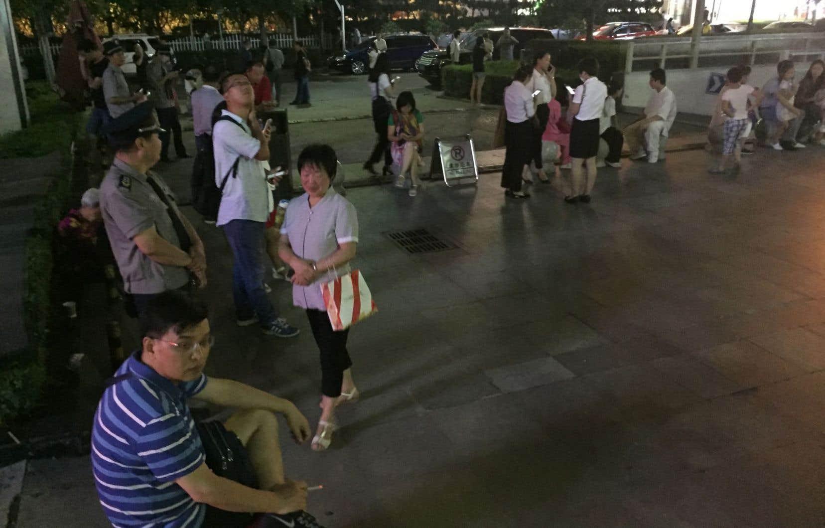 Le séisme a été ressenti aussi loin que dans la province de Shanxi, au centre de la Chine.
