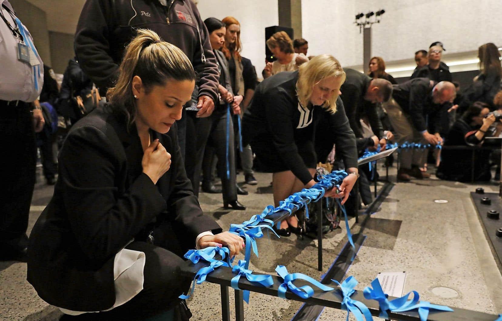 En mai, une cérémonie s'est déroulée à Ground Zero pour souligner les quinze ans de la fin des neuf mois de recherches qui ont suivi la tragédie.
