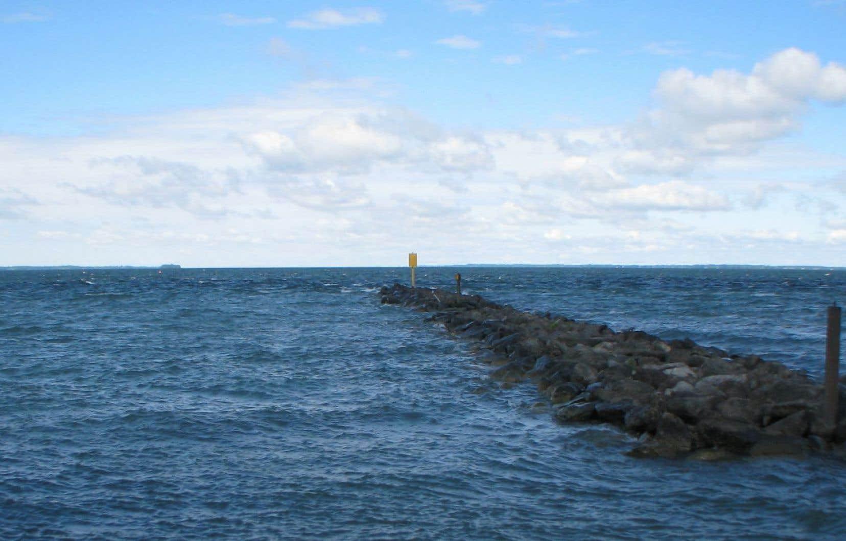 Le lac Saint-François est en vérité une immense boursouflure du fleuve Saint-Laurent.