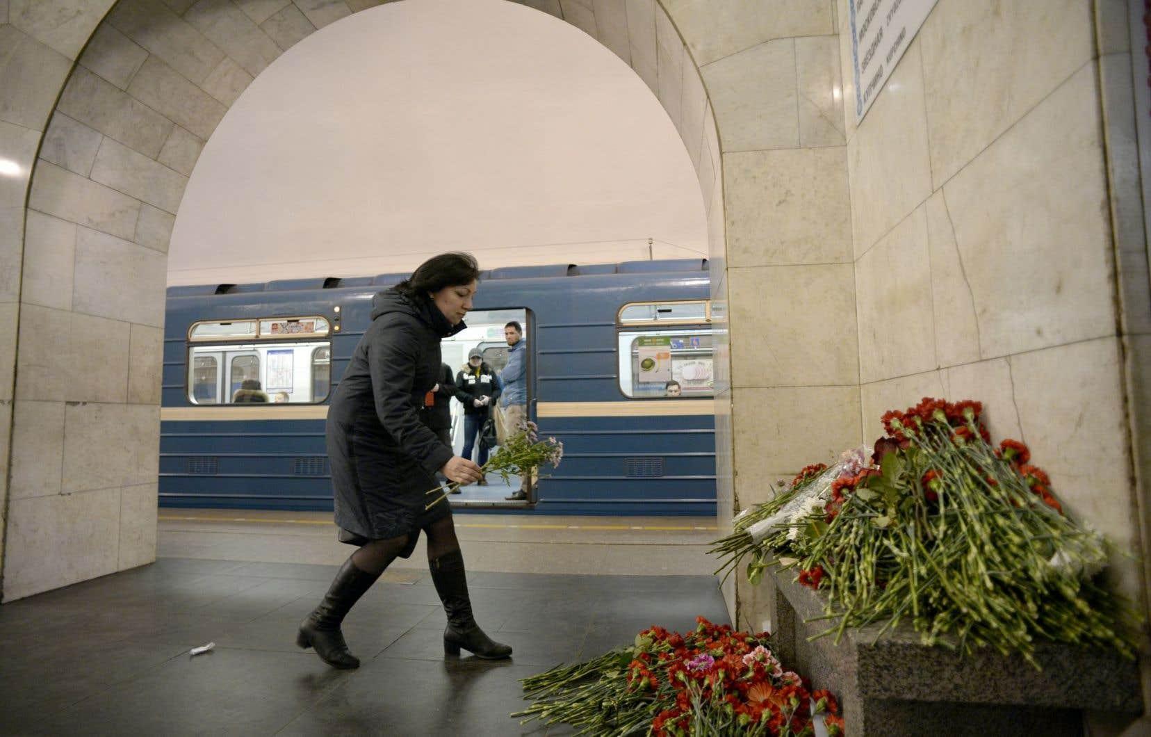 Un attentat dans le métro de Saint-Pétersbourg a fait 16 morts et des dizaines de blessés le 3avril dernier.