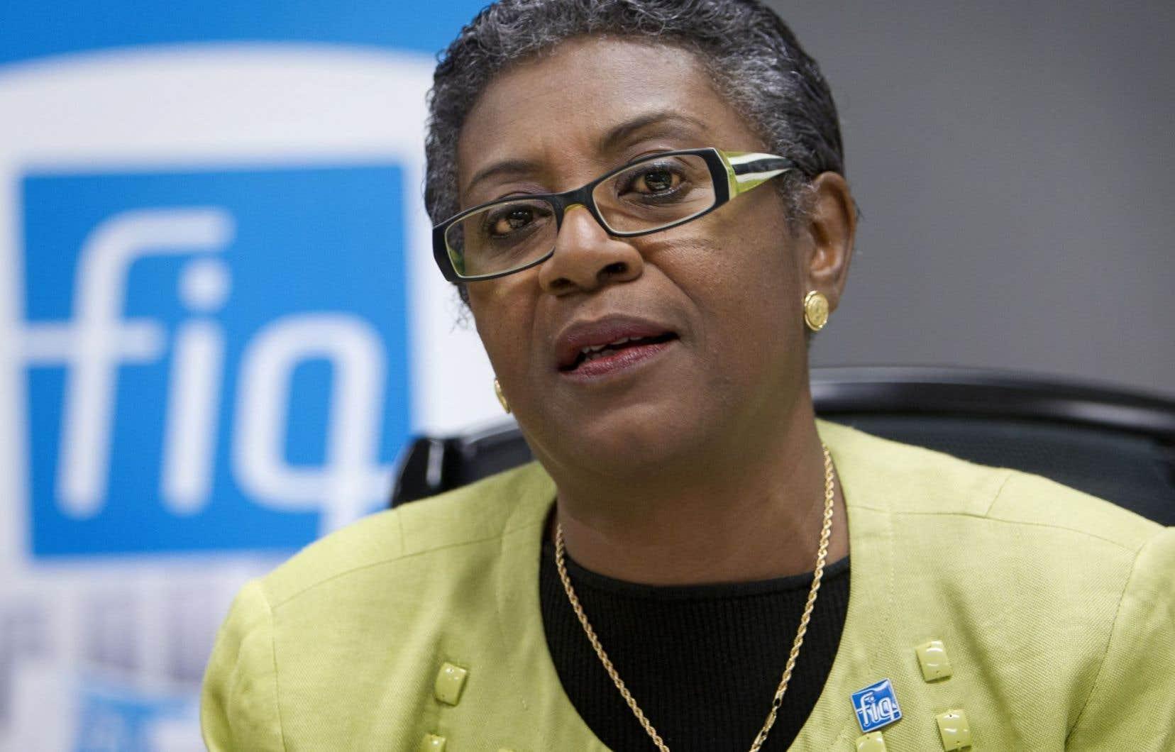 Le «double standard entre les salariées du réseau de la santé et celles des agences privées ne respecte pas le Code du travail», a dénoncé Régine Laurent, présidente de la FIQ.