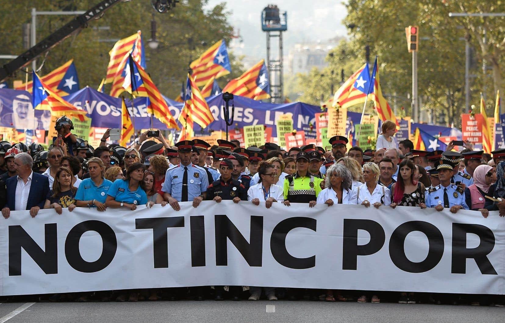 «No tinc por»signifie«Je n'ai pas peur» en catalan.