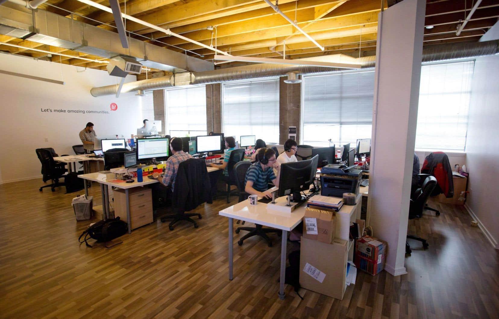 Les bureaux de la compagnie de télécommunication Bazinga! à Vancouver