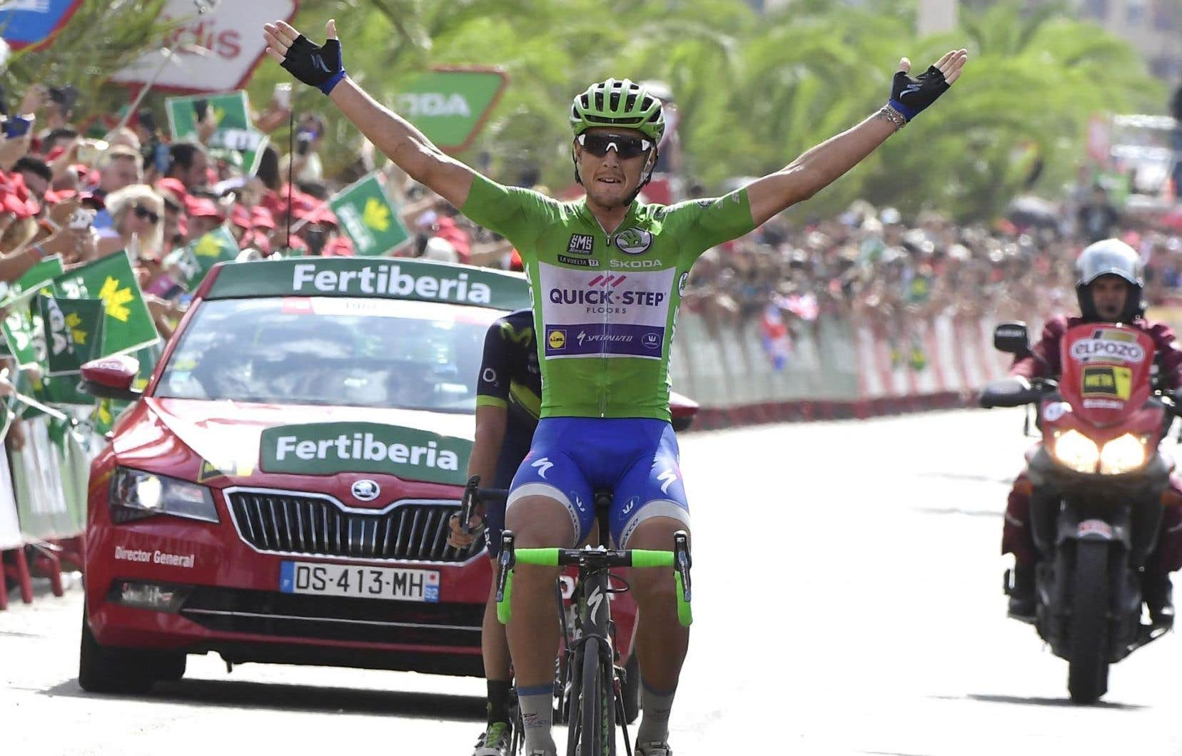 «Je voulais vraiment cette victoire. Cela faisait longtemps que je pensais à cette étape parce que la montée était difficile mais régulière», a raconté Matteo Trentin à l'arrivée.