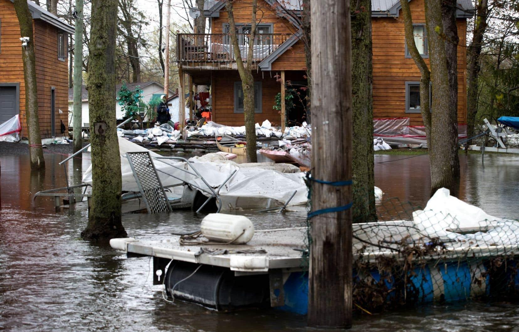 Du 5 au 7avril dernier, deux systèmes dépressionnaires ont entraîné d'importantes inondations dans le sud du Québec.