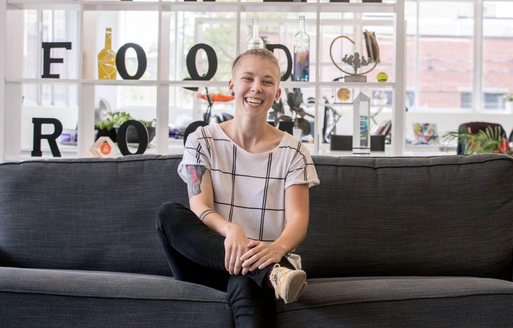"""«La cuisine dont j'avais besoin n'existait pas, donc je me suis dit: """"Tant pis. Je vais la construire""""», lance Amélie Morency."""