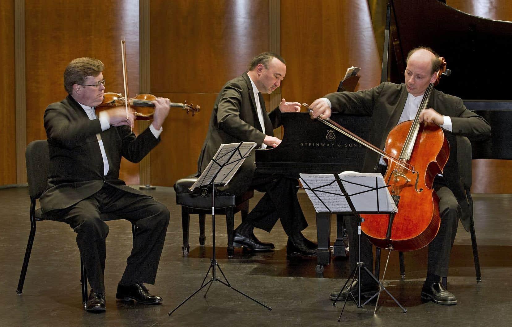 Le Trio Montrose est canadien aux deux tiers, avec Martin Beaver au violon, Jon Kimura Parker au piano et le violoncelliste anglais Clive Greensmith.