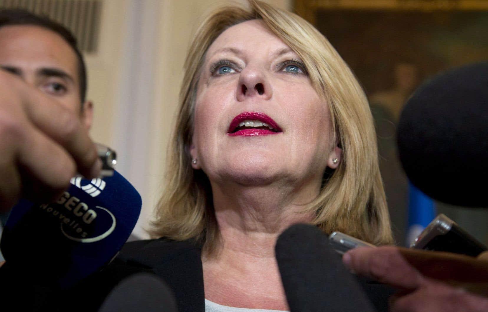 Christine St-Pierre a été ministre responsable de la Condition féminine de 2008 à 2012.